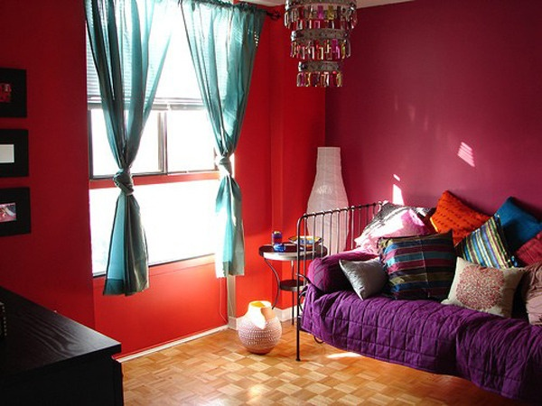 Naver - Interesting images of red and blue bedroom decorating design ideas ...